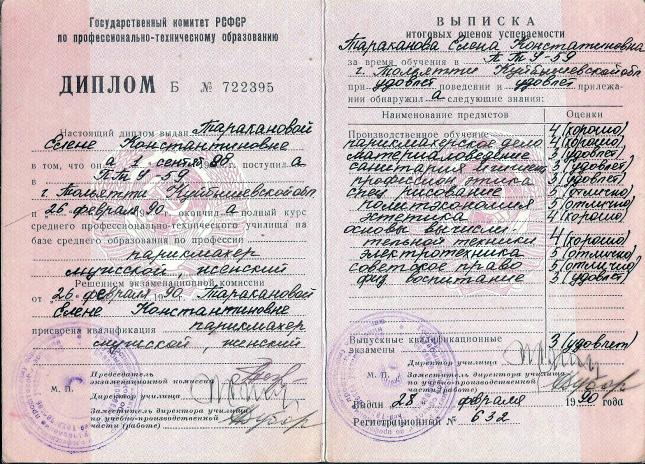 Мастер Елена Гуляева Тольятти ПТУ № 59 Базовый курс Парикмахер мужской женский